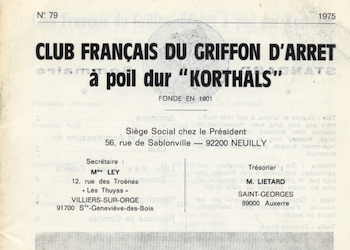 Back issues from the Club Francais for Korthals