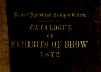 Royal Melbourne Show Exhibition Catalogues