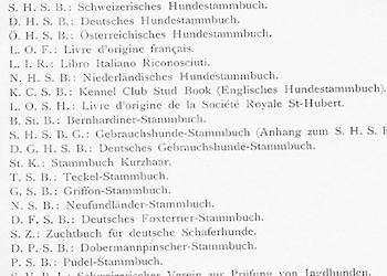 Studbook Abbreviations